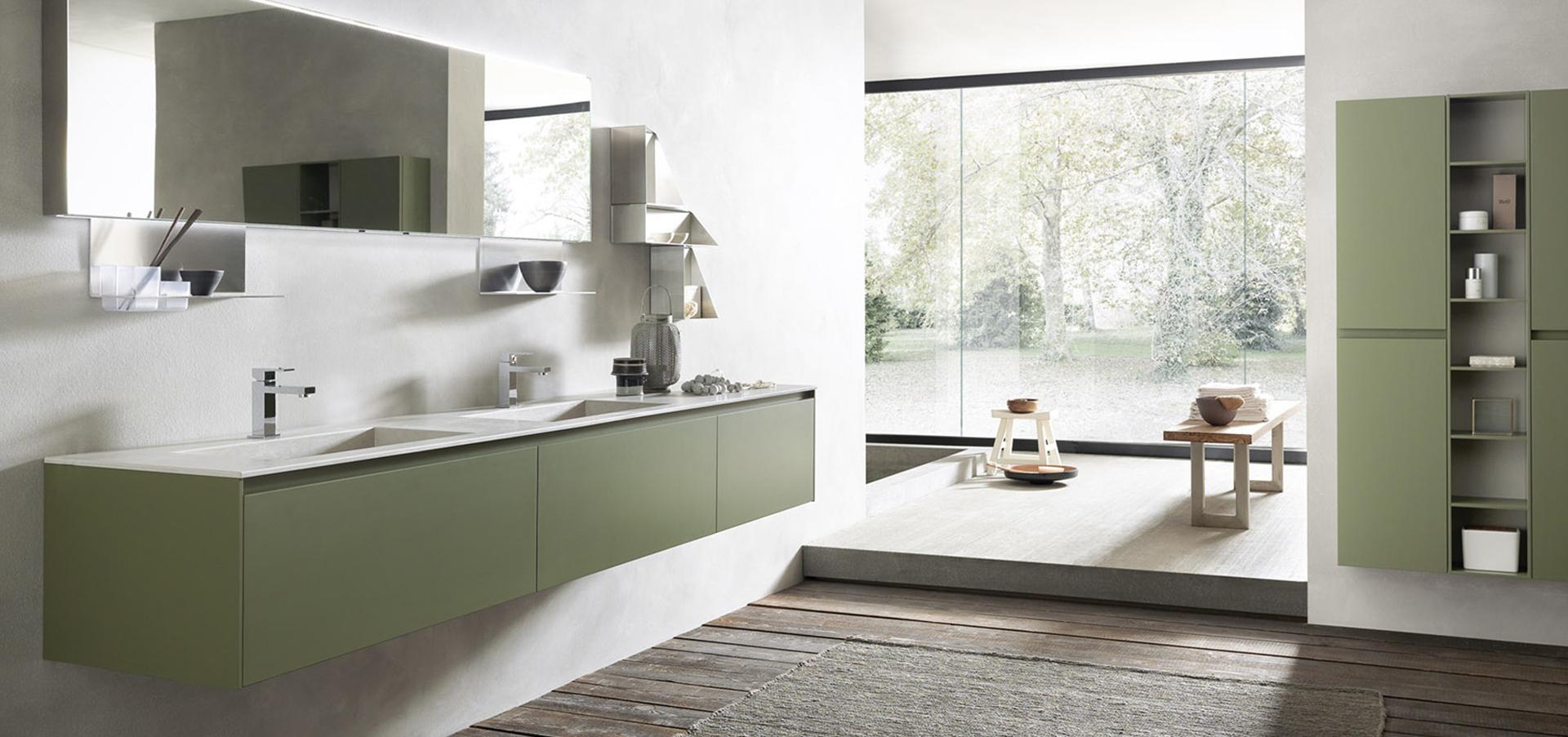 Arredamento Bagni Moderni - Colore Grigio e Verde!
