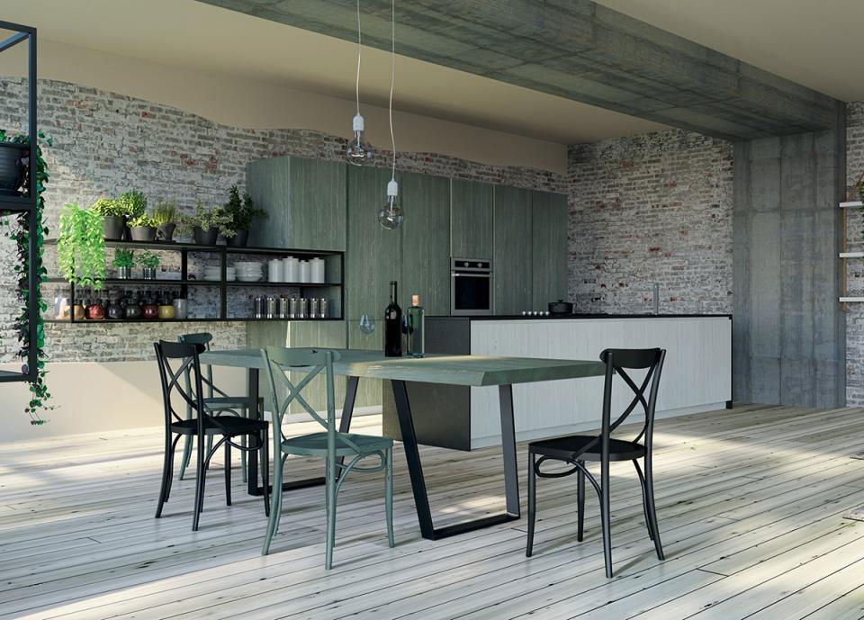 Arredamento Cucina - Colore Bianco, Grigio e Verde!