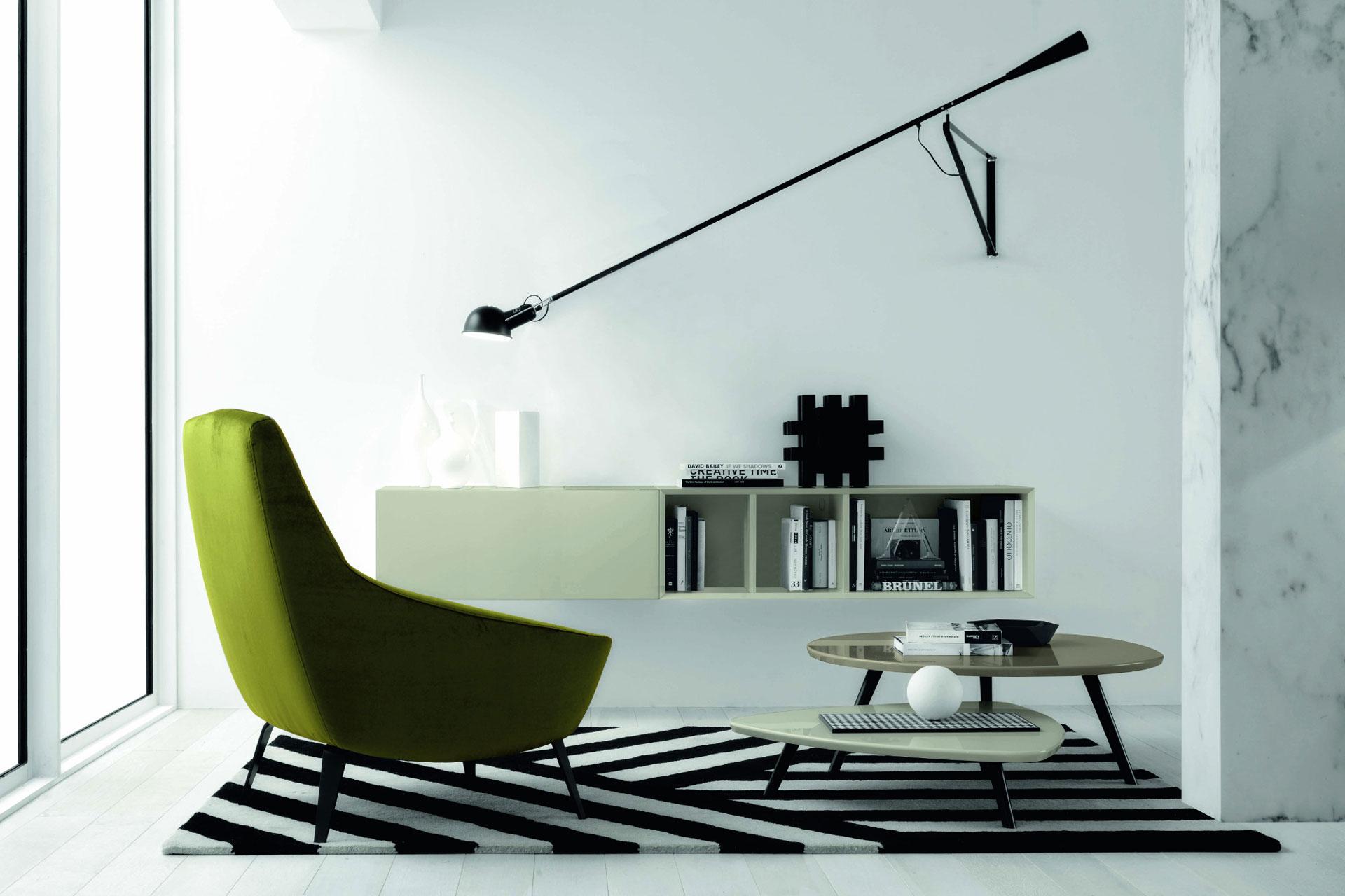 Soggiorno Moderno - Colore Bianco, Nero e Verde!